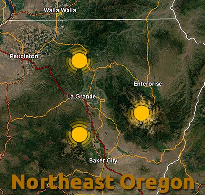 Hiking Northeastern Oregon LaGrandeRidecom - Oregon hiking trails map