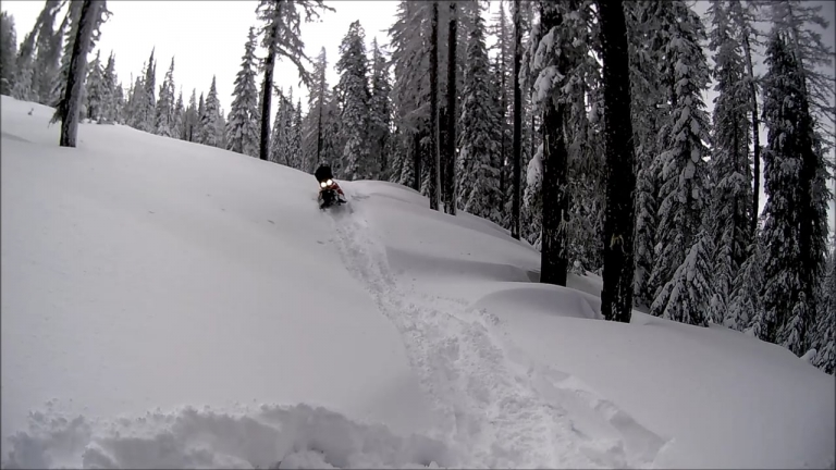 Snowmobiling Bone Springs - Tollgate, OR 3-23-2016