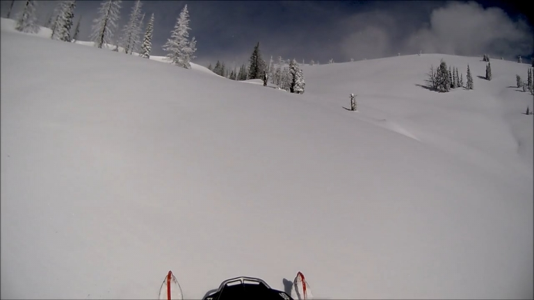 South Climb Up Table Top - Snowmobiling Halfway, Oregon