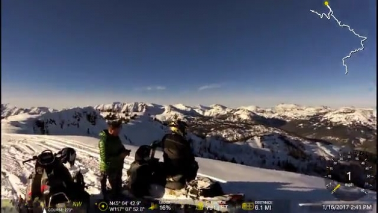 Halfway Snowmobile Mehlhorn & Sugarloaf 1-17-2017