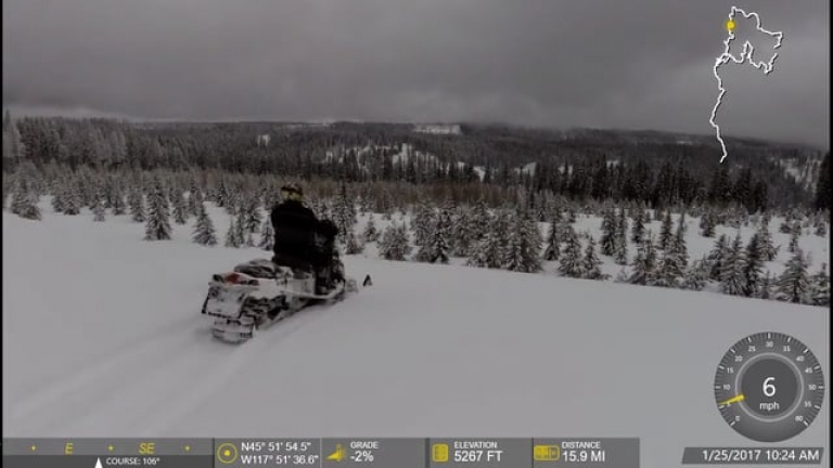 Palmer Jct to Lookout Snowmobiling 1-25-2017