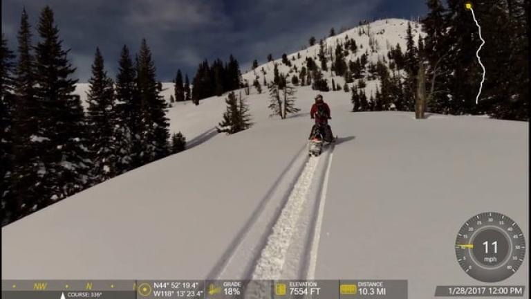 Bourne & Cracker Saddle Snowmobiling 1-29-2017