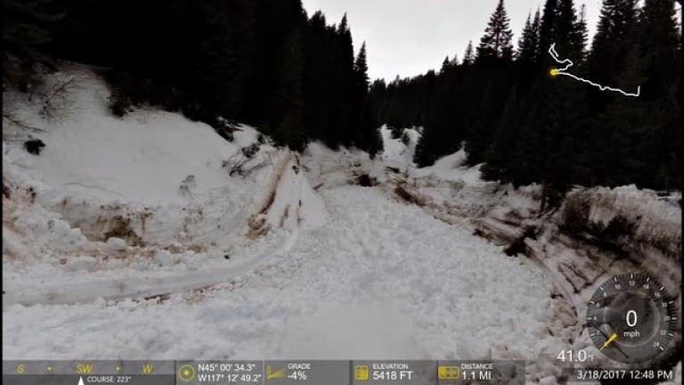 Jim Fiske Creek Avalanche - Cornucopia, OR
