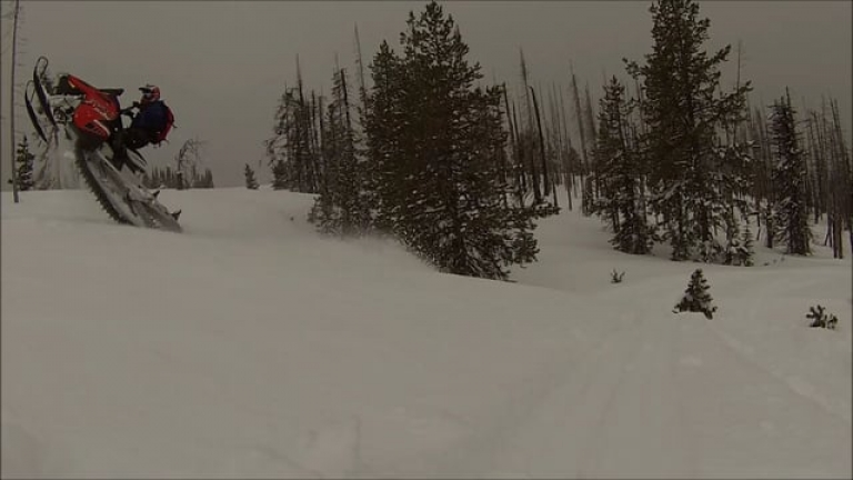 Spring Snowmobiling in the Wallowas 4-28-2017